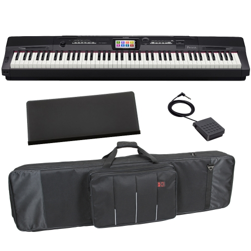 Casio Privia Portable Digital Piano PX-360 88 weighted key Scaled Hammer Action With Carrying Bag