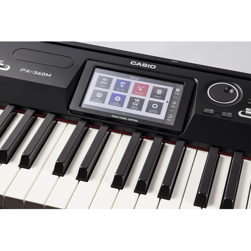 casio privia portable digital piano px 360 88 weighted key with x stand and keyboard bag las. Black Bedroom Furniture Sets. Home Design Ideas