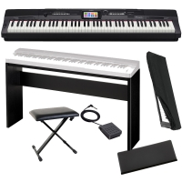 Casio Privia Portable Digital Piano PX-360 88 weighted key with Cabinet Stand, X-Bench, Dust Cover