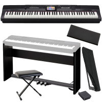 Casio Privia Portable Digital Piano PX-360 88 weighted key with Stand, 3 Pedal, X-Bench, Dust Cover