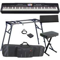 Casio Privia Portable Digital Piano PX-360 88 weighted key with 4 Legged Stand, X-Bench, Bag