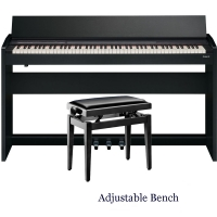 New Roland Modern Compact Digital Piano F140R Black 88 weighted key with Adjustable Bench
