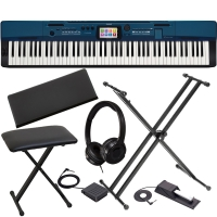Casio Privia Digital Piano PX-560 Portable 88 Key Weighted Bundle w/ X Bench, X Stand, Headphones and SP20 Pedal