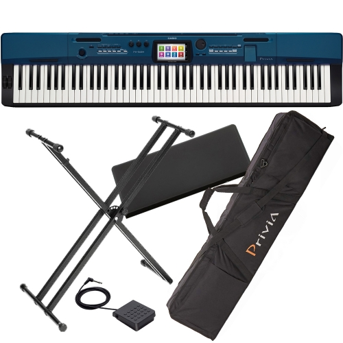 Casio Privia Portable Digital Piano PX-560 88 weighted key with X Stand and Carrying Bag