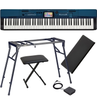 Casio Privia Portable Digital Piano PX-560 88 Weighted Key 4-legged Stand, X Bench