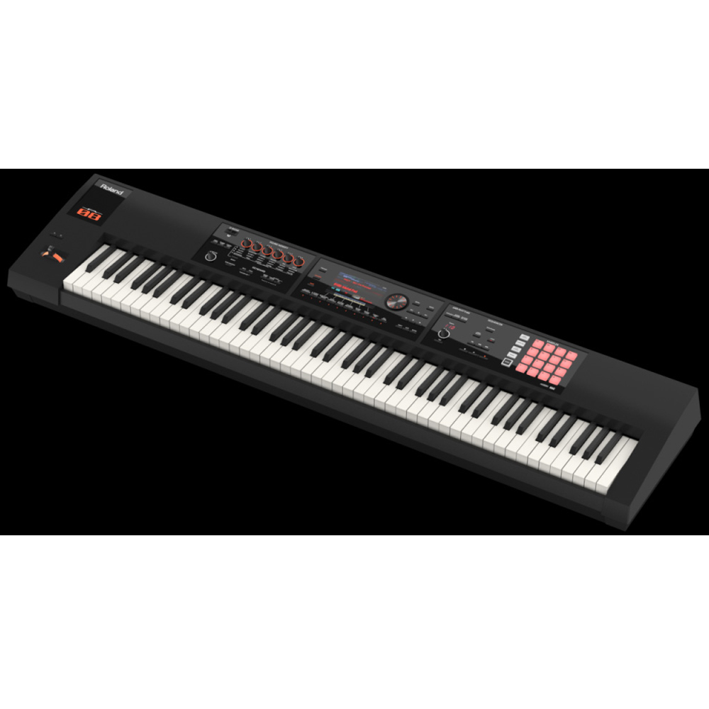 roland keyboard fa 08 88 weighted key music workstation with x stand xbench dp 10 damper. Black Bedroom Furniture Sets. Home Design Ideas