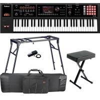 Roland Keyboard FA-06, 61 Key Music Workstation With 4-legged Stand, Xbench, DP-10 Pedal, Bag
