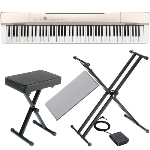 Casio Privia  PX-160GD with x style stand and x bench