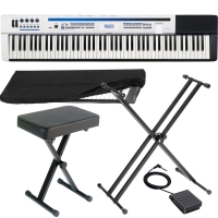 Casio  Privia PX 5S Pro Digital Stage piano 88 key weighted with X Stand, X Bench, Dust Cover