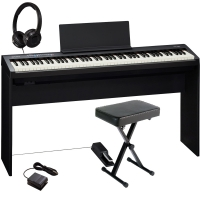 Brand New Roland FP-30 Black 88- Key Weighted with Matching Cabinet Stand, X Bench, DP-10 Pedal, HP