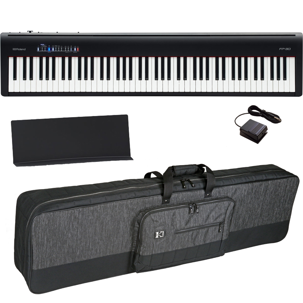 Brand New Roland Fp 30 Black Digital Piano 88 Key Weighted With Carrying Bag Las Vegas Music