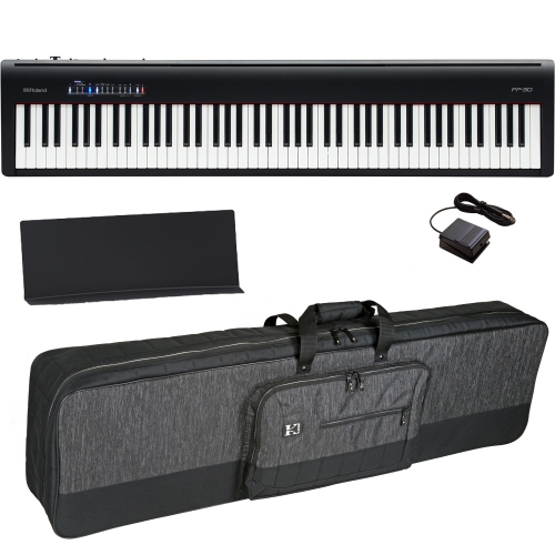 Brand New Roland FP-30 Black Digital Piano 88- Key Weighted with Carrying Bag