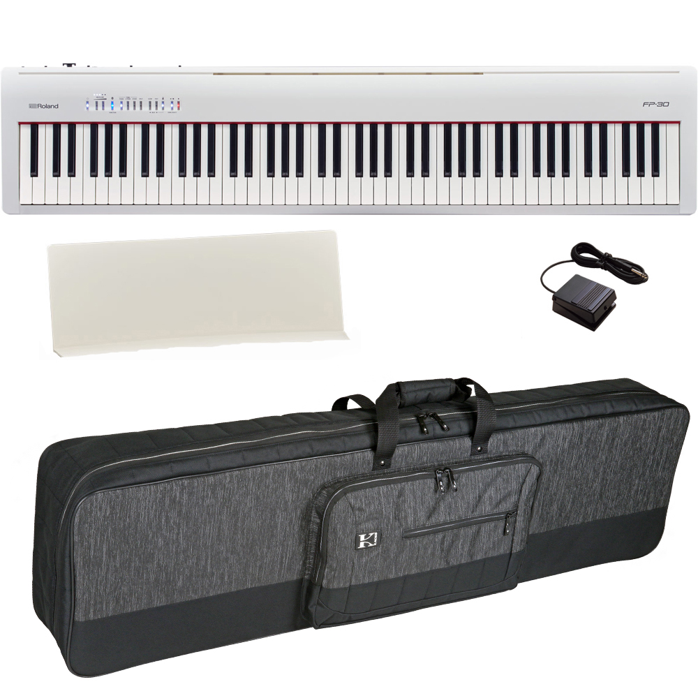 brand new roland fp 30 white digital piano 88 key weighted with carrying bag las vegas music. Black Bedroom Furniture Sets. Home Design Ideas