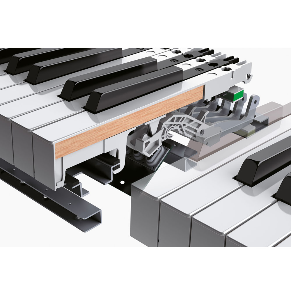 new roland dp603 cb slim and stylish digital piano 88 key weighted hammer action keyboard las
