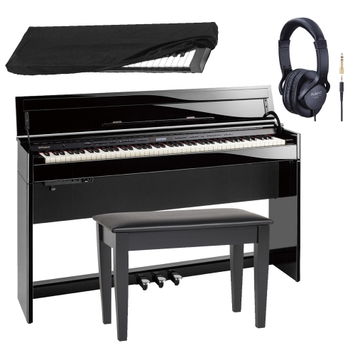 New Roland DP603 PEC Slim and Stylish Digital Piano 88-Key Weighted With Roland Storage Matching Bench, Roland Headphones and Dust Cover