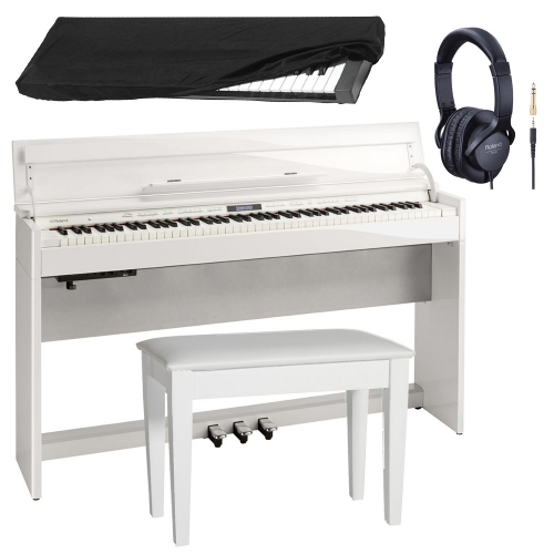 New Roland DP603 PWC Slim and Stylish Digital Piano 88-Key Weighted With Roland Storage Matching Bench, Roland Headphones and  Dust Cover