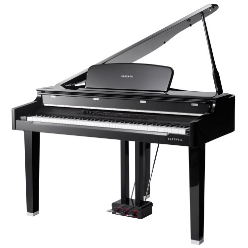 Kurzweil CGP220W 88-Key Weighted Hammer Action German D Grand Piano (Ebony Polish) with Matching Bench