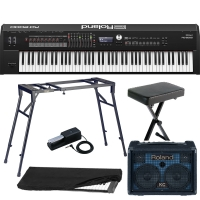 New Roland RD 2000 Portable Stage Piano 88 weighted key with 4-Legged stand, X Bench, Pedal, KC-80 Amp, Dust Cover
