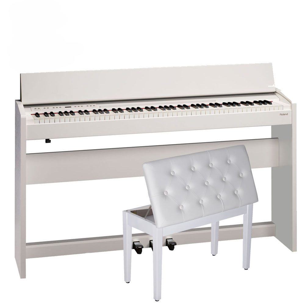 Roland F140r White 88 Weighted Key Digital Piano With