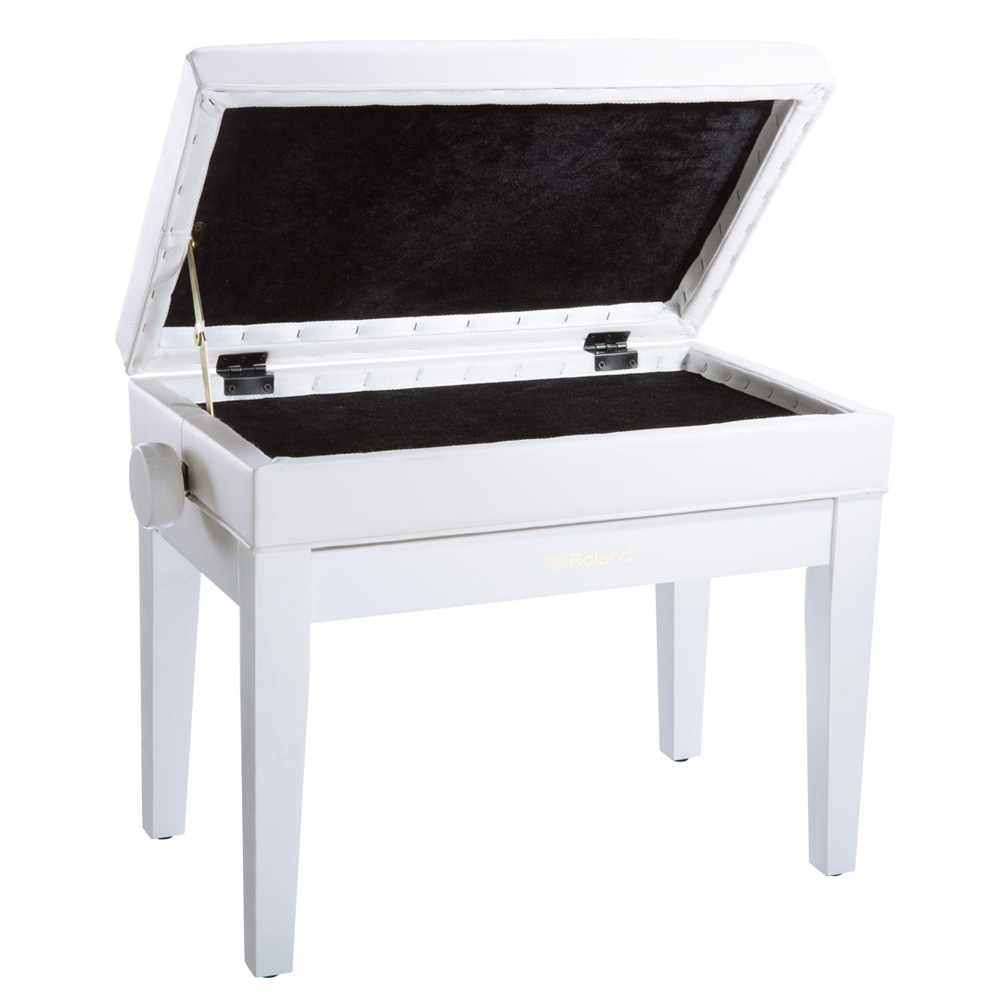 Roland Rpb 400 Adjustable Storage Piano Bench White Las Vegas Music