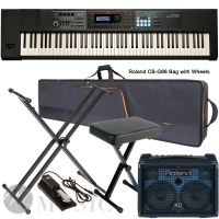 Roland  JUNO DS88  Synthesizer  88 Weighted Key with Roland CB-G88 Bag, X Stand, X Bench, Roland KC-220, Sustain Pedal
