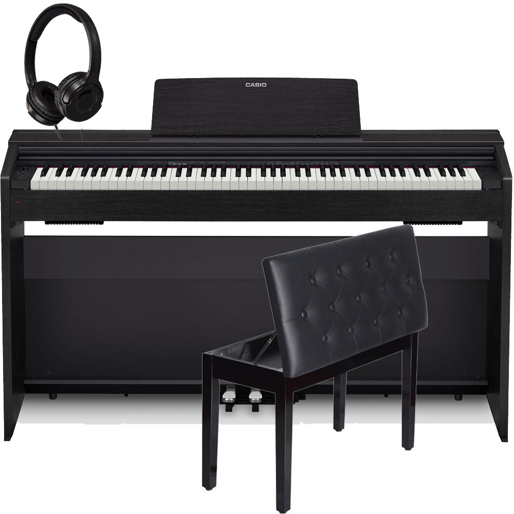 casio px870bk privia home digital piano 88 key weighted with storage bench and headphones las. Black Bedroom Furniture Sets. Home Design Ideas