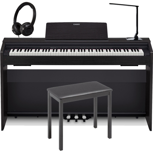 Casio PX870BK  Privia  Home Digital Piano 88 key weighted with Casio Matching 4-Legged Bench, Multipurpose LED Lamp and Headphones
