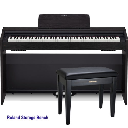 Casio PX870BK Home Digital Piano 88 key weighted with Roland Storage Bench
