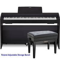 Casio PX870BK  Privia  Home Digital Piano 88 key weighted with Roland RPB-400BK Adjustable Storage Bench