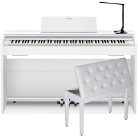 Casio PX870WE  Privia  Home Digital Piano 88 key weighted with White Storage Bench and Multipurpose  LED Lamp