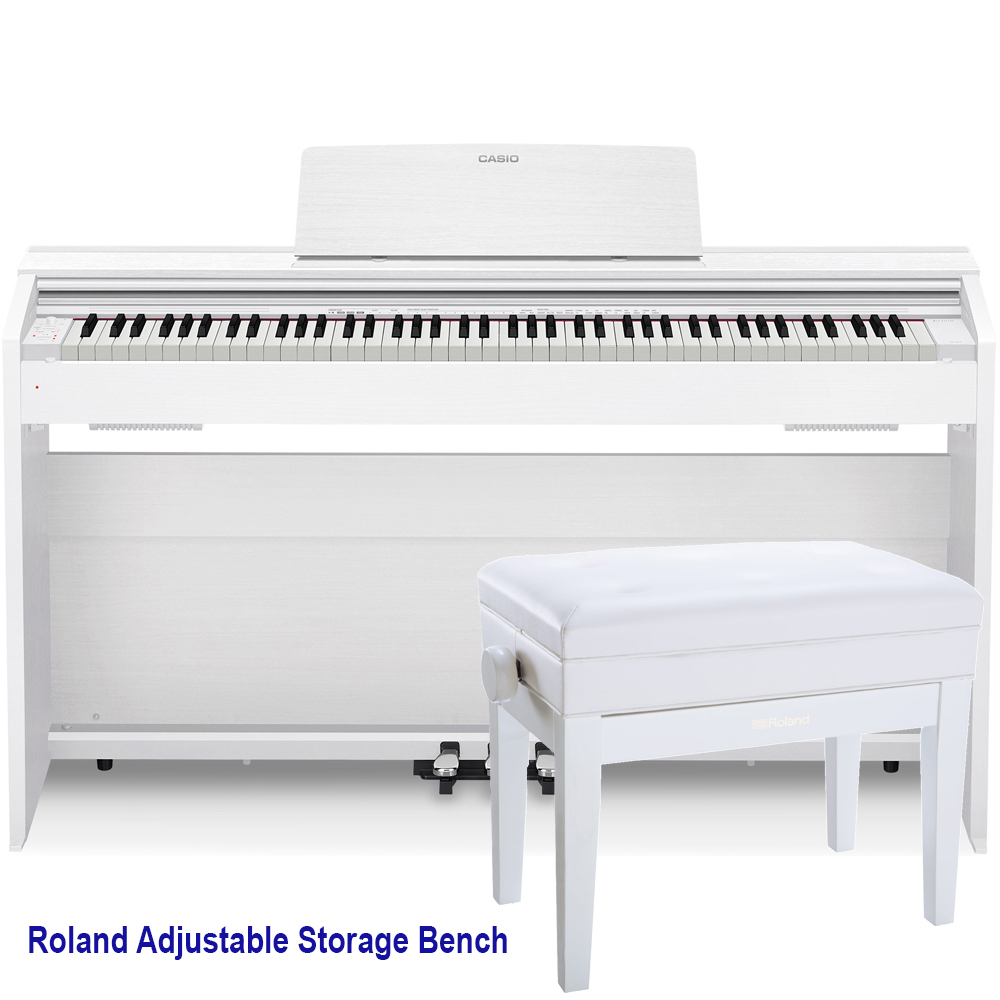 casio px870we privia home digital piano 88 key weighted with roland rpb 400wh storage bench las. Black Bedroom Furniture Sets. Home Design Ideas