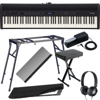 Roland FP-60 Black Stage Digital Piano 88 Key Weighted With 4-Legged Stand, X Bench, Dust Cover, Headphones