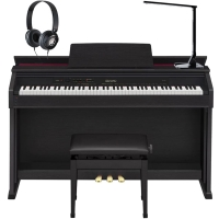 Casio Celviano AP460 BK 88 Key Weighted with Adjustable Bench, Lamp, and Headphones