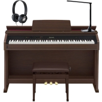 Casio Celviano AP-460BN 88 Key Weighted with Adjustable Bench, Lamp, and Headphones