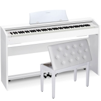 Casio PX-770WE Home Digital Piano 88 key weighted With White Storage Bench