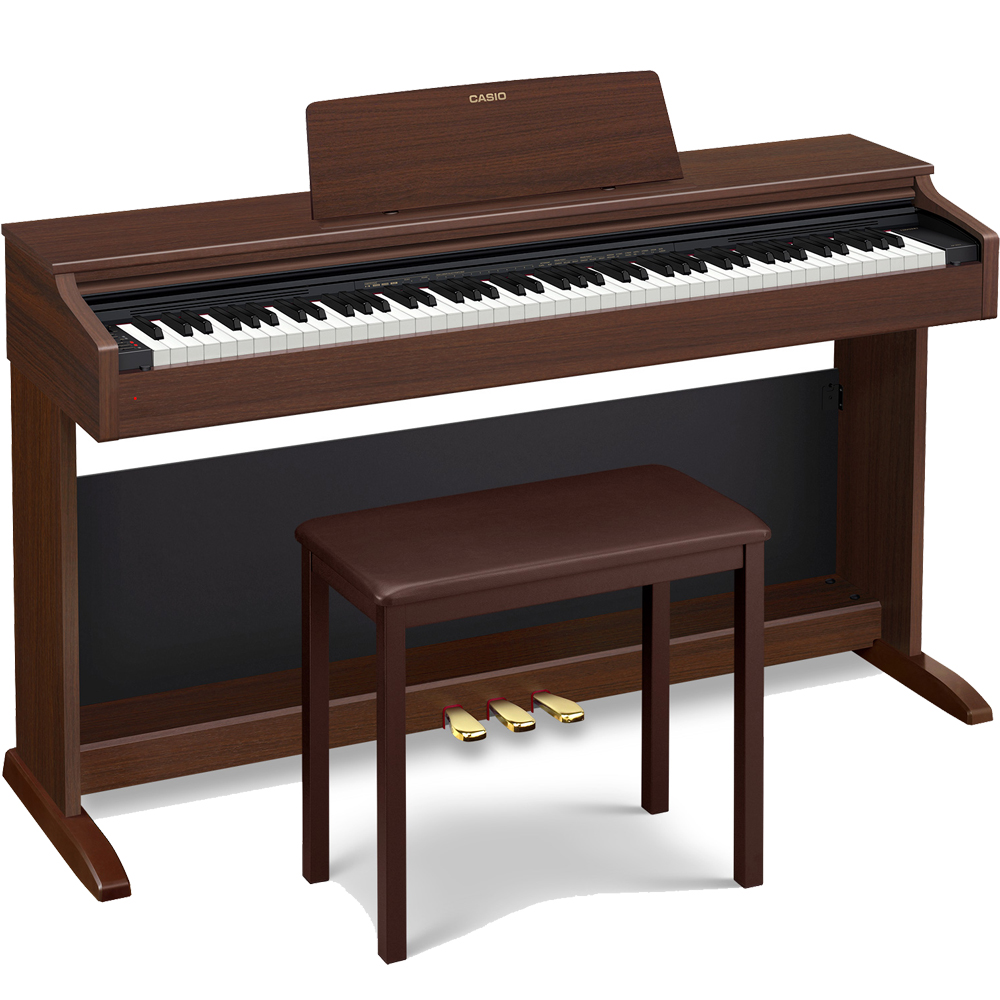 casio celviano ap 270 brown home digital piano 88 key weighted las vegas music. Black Bedroom Furniture Sets. Home Design Ideas