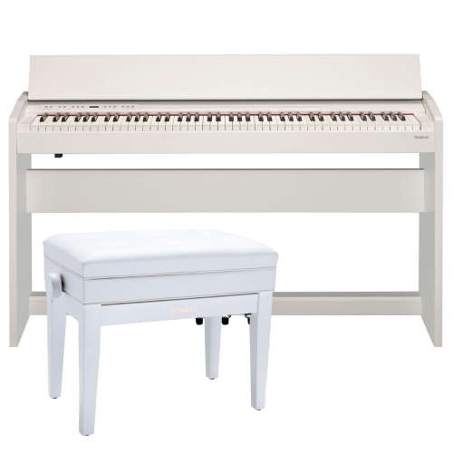 Roland F140R White  88 weighted key digital Piano with Matching Roland Storage Bench RPB400