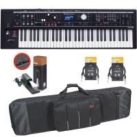 Roland V-Combo VR-09-B Live Performance Keyboard with Carrying Bag, Sustain Pedal, Two Stagg Audio Cable (10ft)