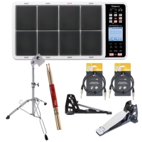 RolandRoland SPD-30 White OCTAPAD Digital Percussion Pad with PDS-10 Stand, KT-9 Kick Trigger Pedal, FD-9 Hi-Hat Trigger Controller, Stagg Audio Cable, Stick