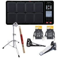 RolandRoland SPD-30 Black OCTAPAD Digital Percussion Pad with PDS-10 Stand, KT-9 Kick Trigger Pedal, FD-9 Hi-Hat Trigger Controller, Stagg Audio Cable, Stick