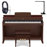 New Casio Celviano AP-470BN 88 Key Weighted with Adjustable Bench and Roland RH5 Headphones, Multipurpose LED Lamp