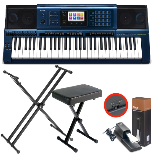 Casio MZ-X500 Arranger workstation Keyboard with  X Stand, X Bench, Sustain Pedal