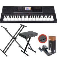 Casio MZ-X300 Arranger workstation Keyboard with  X Stand, X Bench, Sustain Pedal