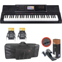 Casio MZ-X300 Arranger workstation Keyboard with  Kaces Carrying Bag, Sustain Pedal, Two Audio Cable (10ft)