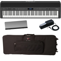 New Roland FP-90 Black Portable Stage Piano 88 Weighted Key with Gator Carrying Bag (with Wheels)
