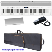 Brand New Roland FP-90 White Portable Stage Piano 88 Weighted Key with Roland Carrying Bag with Wheels - CB-G88LV2