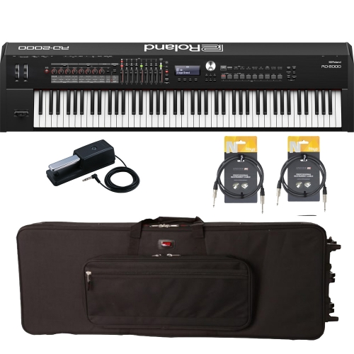 New Roland RD 2000 Portable Stage Piano 88 weighted key with Gator Carrying Bag (with Wheels) and Two Audio Cables