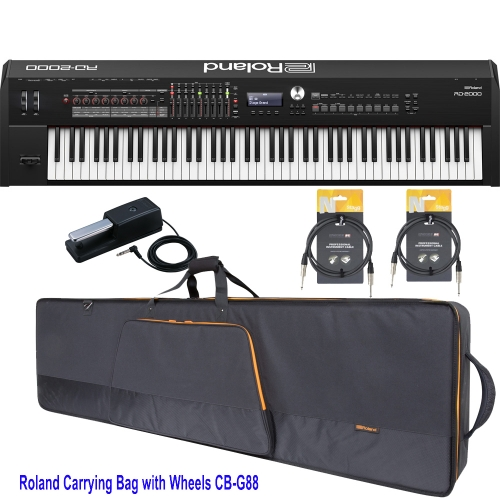 New Roland RD 2000 Portable Stage Piano 88 weighted key with Roland CB-G88 Carrying Bag (with Wheels) and Two Audio Cables