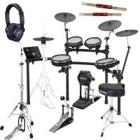 New Roland TD-25KV Electronic V-Drums Kit with Gibraltar (Hi-Hat stand, Throne, Kick Pedal), Roland Headphones, 2 Sticks