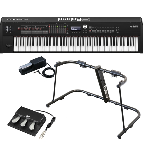 limited time offer brand new roland rd 2000 portable stage piano 88 weighted key with ks g8b. Black Bedroom Furniture Sets. Home Design Ideas
